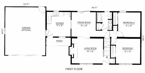 Floor plan cape cod home