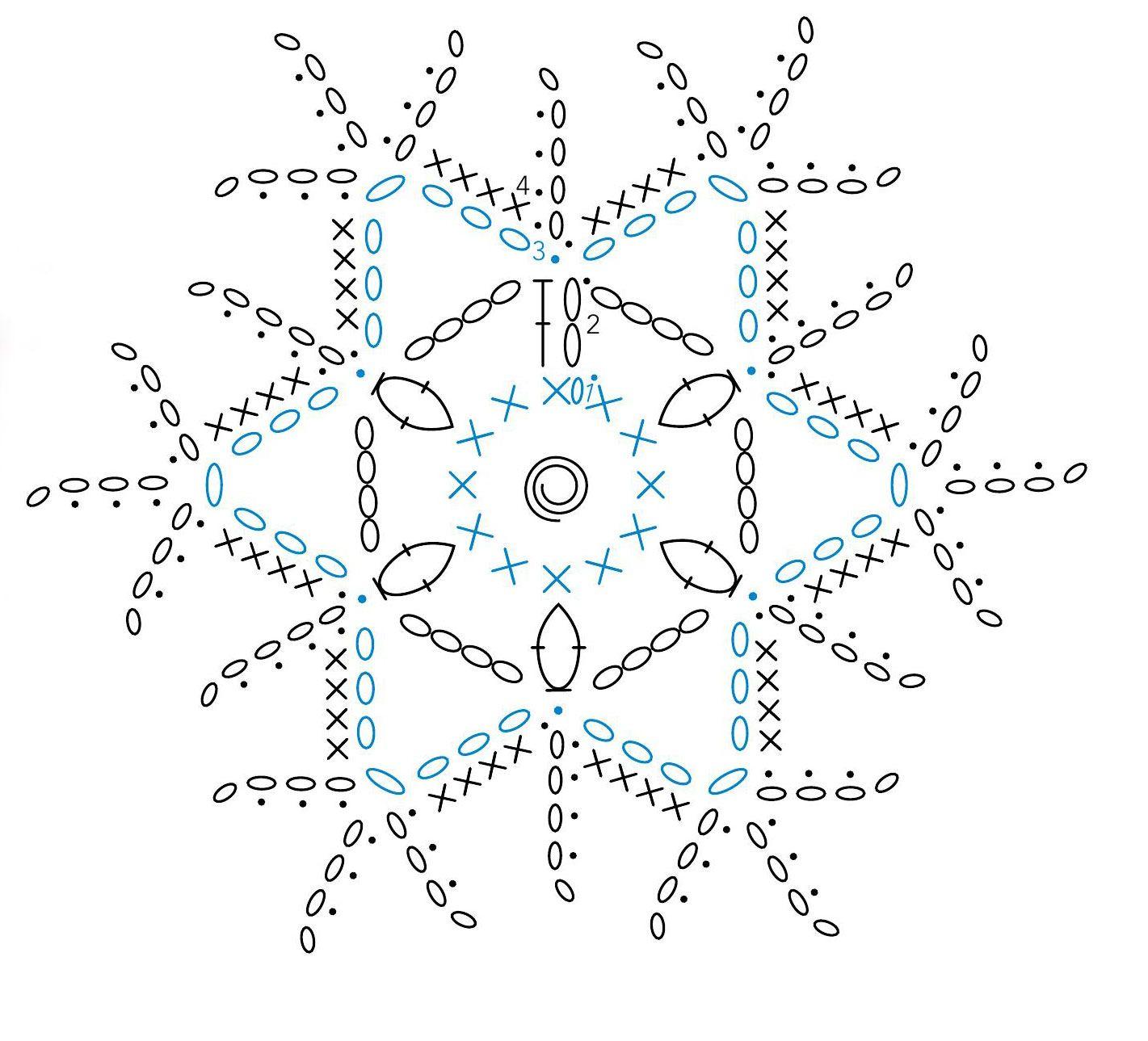 Crochet - A Sowflake | karácsony | Pinterest | Nieve, Cuadrados y ...