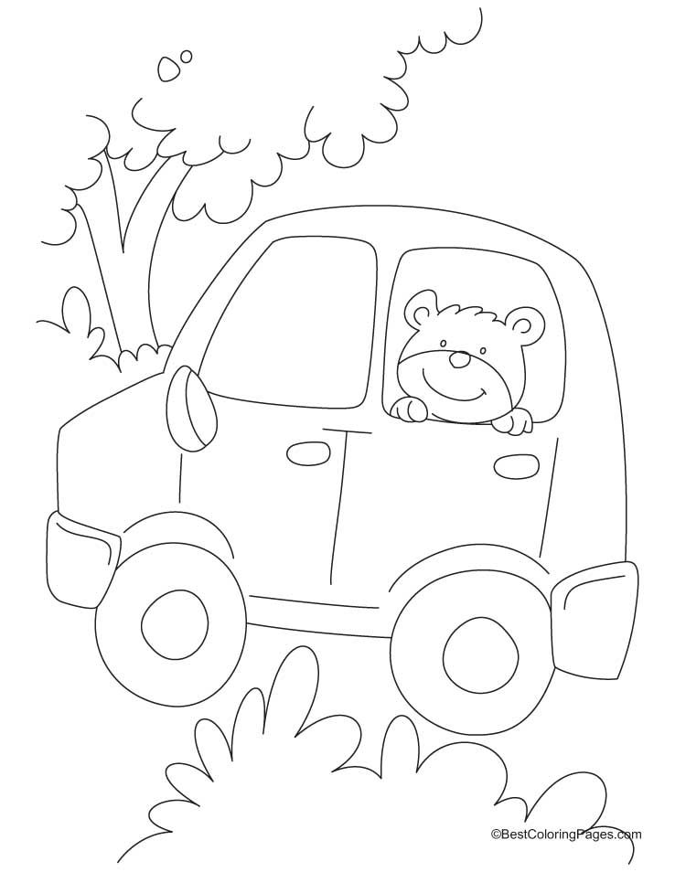 Teddy bear sitting in a car coloring pages Download Free Teddy - best of crayola mini coloring pages cars