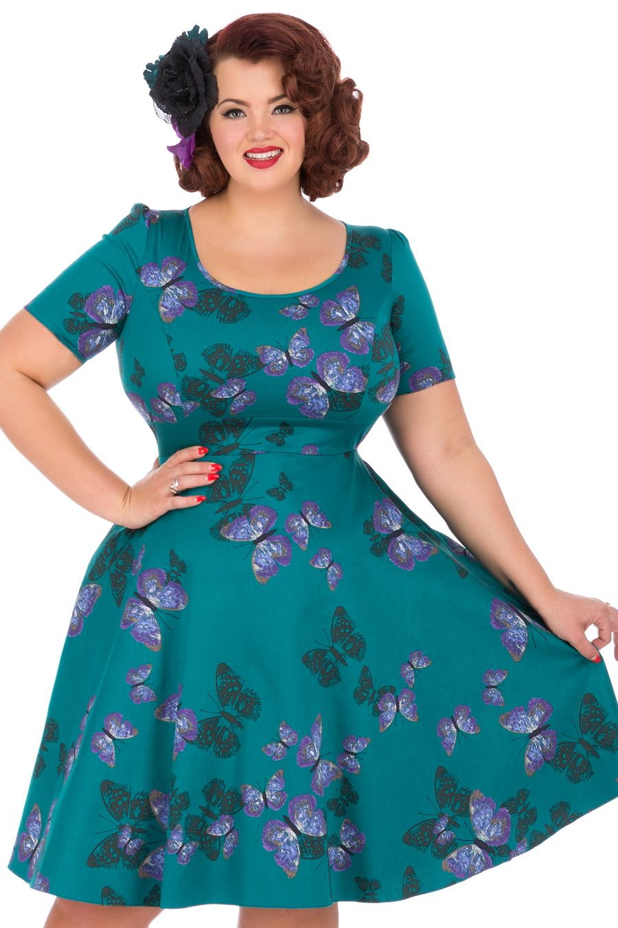Teal Green Butterfly Phoebe Dress_2 (click to Enlarge)