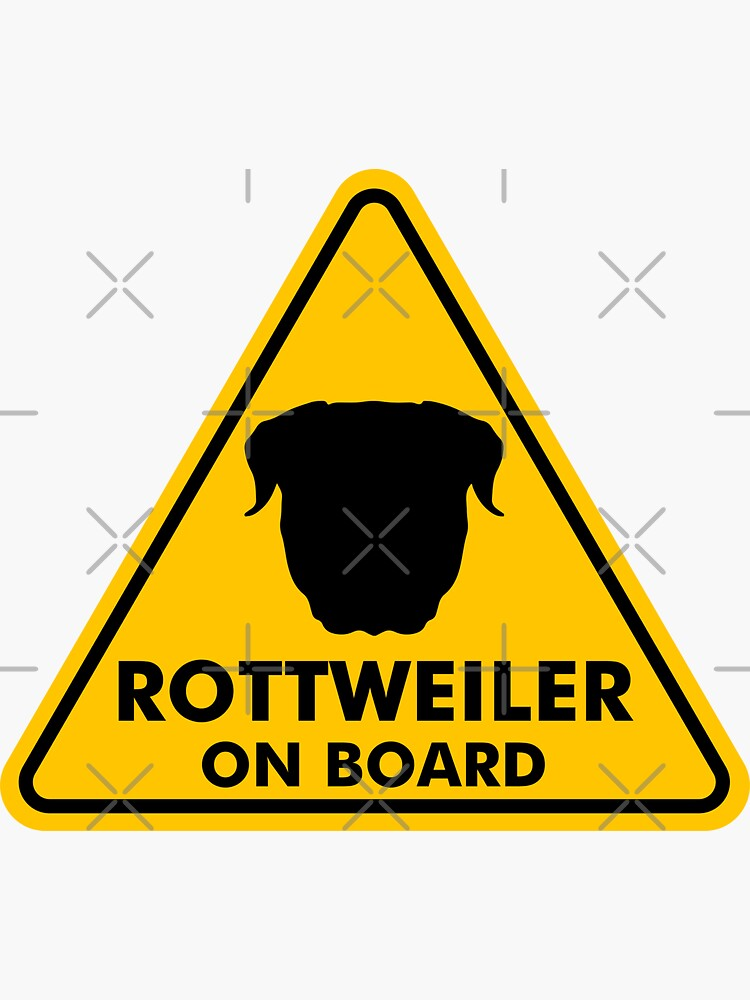 Rottweiler On Board Sticker By Dogshearted In 2020 Rottweiler Sticker Design Vinyl Sticker