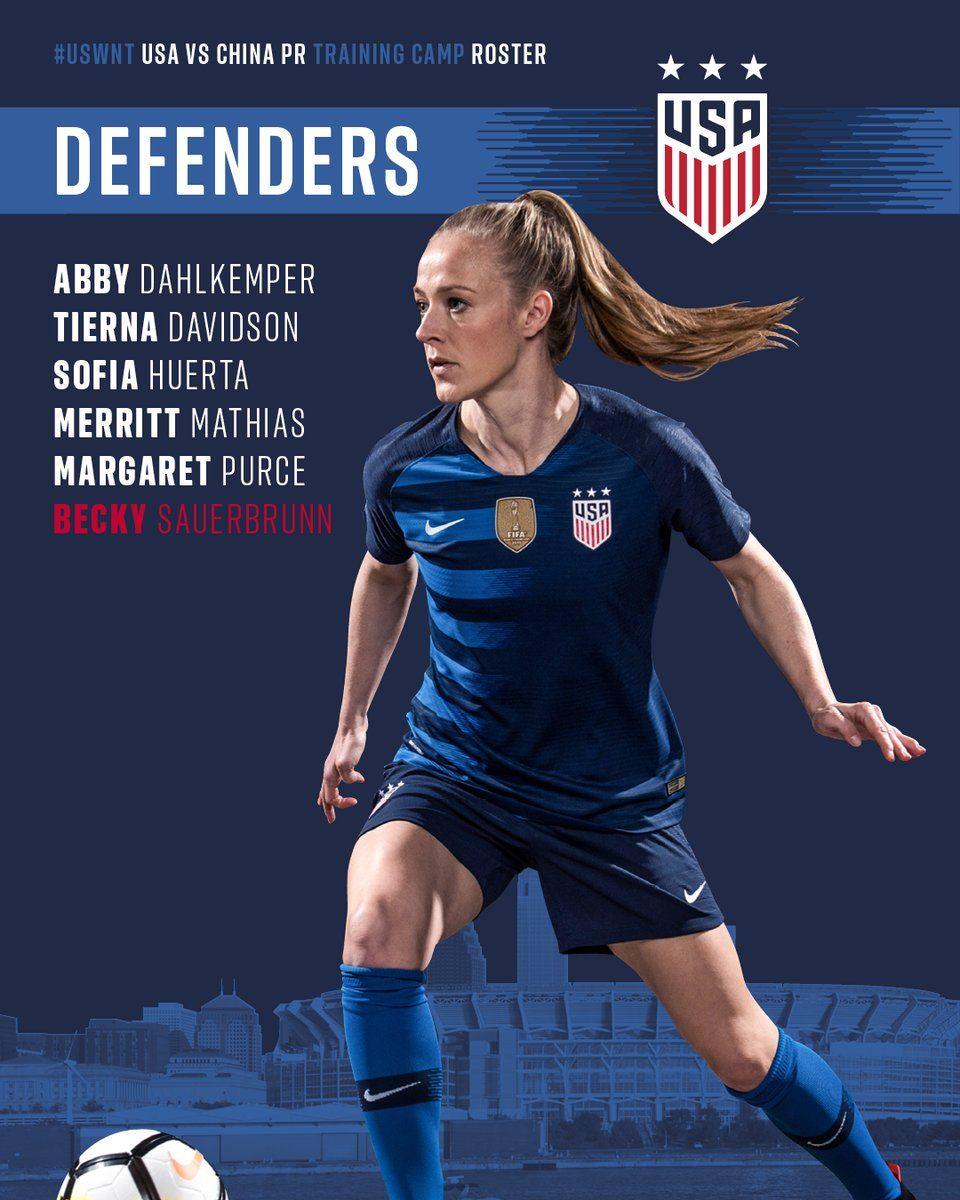Becky sauerbrunn defender usa soccer women usa soccer