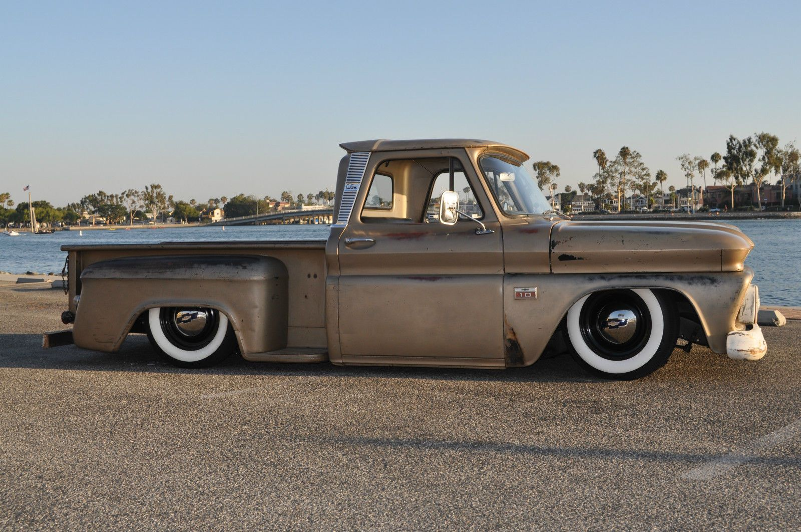 Chevrolet C 10 C10 1966 Swb Patina Rat Rod Bagged Chevy Short Bed Truck