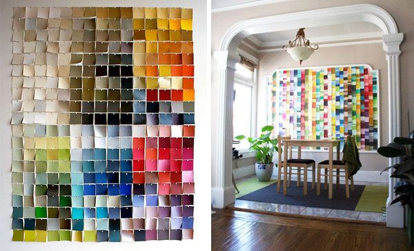 Attractive Possibly The DIY Paint Chip Art Project With The Least Amount Of Effort.  But Still Design Ideas