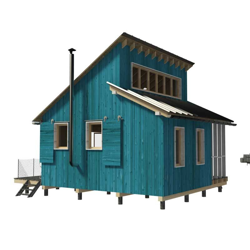 Clerestory House Plans Thelma Small Cabin Plans Loft Floor Plans House Floor Plans