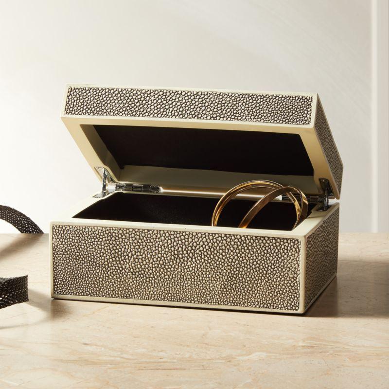 Resin Shagreen Jewelry Box   Jewelry box, Gifts, Crate, barrel