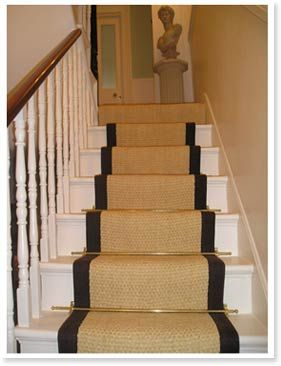 Wood Steps With Carpet Runners   Google Search