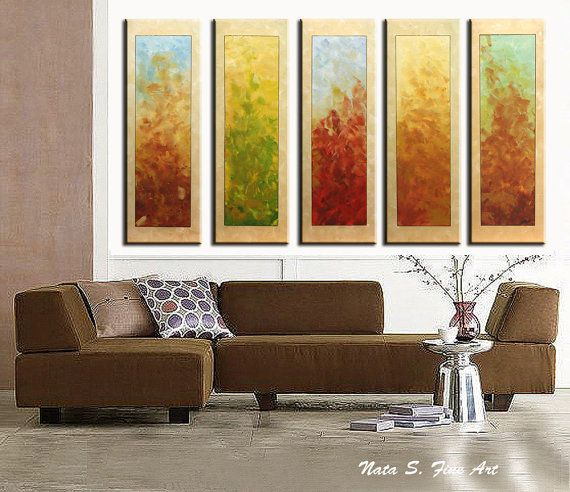 Original Abstract Painting, Oversize Artwork, Modern Multicolored ...