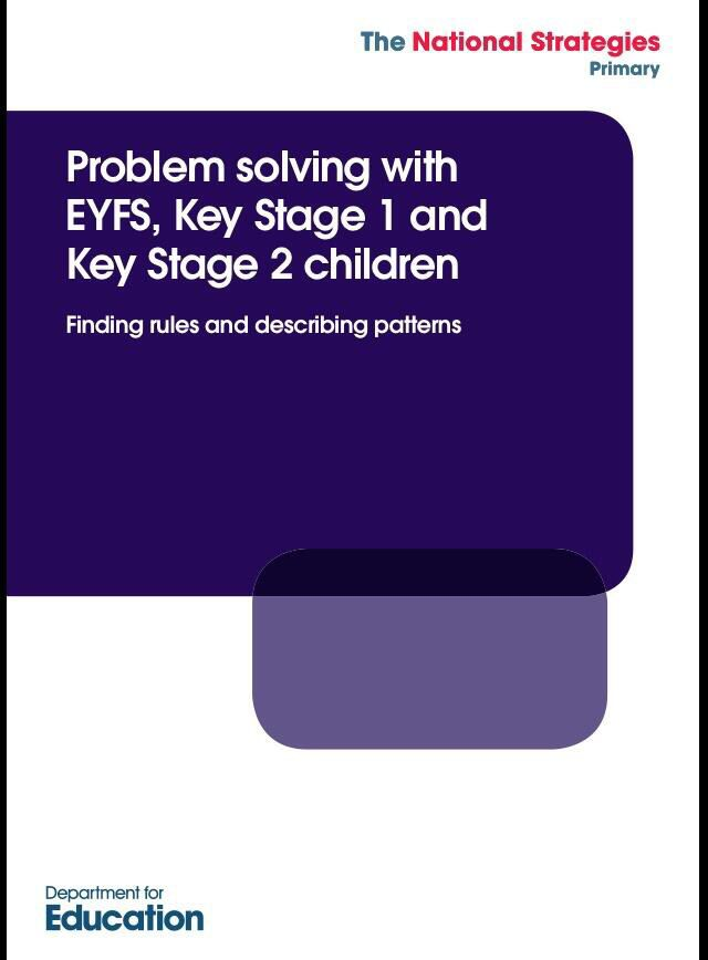 Use Apply Problem Solving With Eyfs Ks1 2 Children Finding