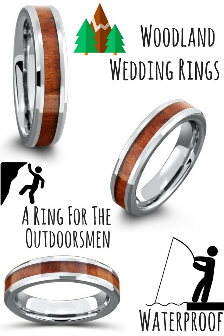 5mm Handcrafted Tungsten Koa Wood Ring Tungsten carbide Ring and