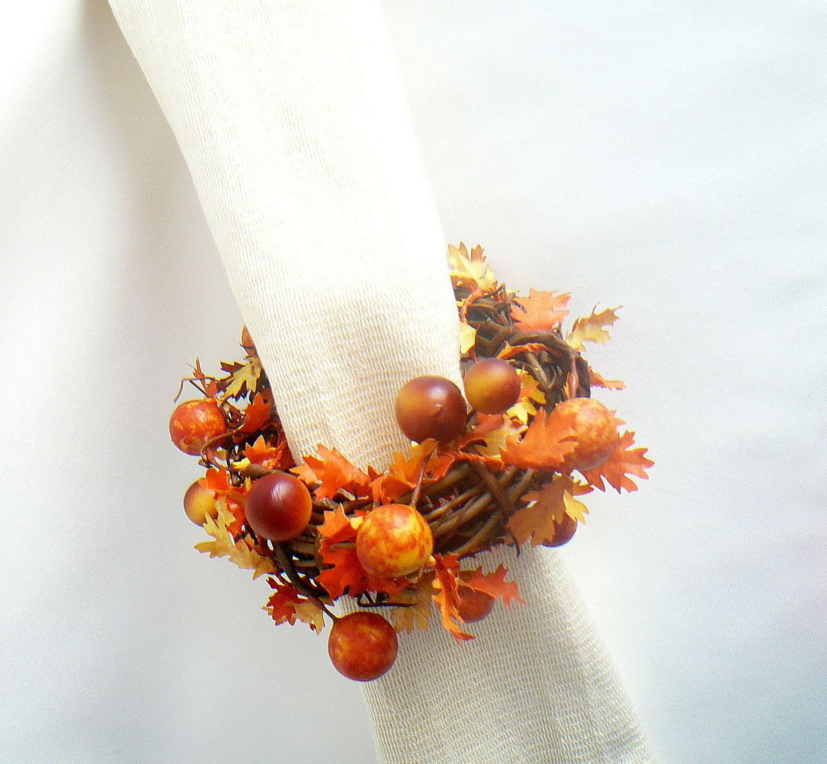 Thanksgiving Decorating Ideas, Vine Napkin Rings, Rustic Wedding ...