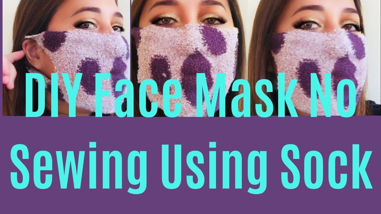 Diy face mask no sewing using sock youtube in 2020 diy