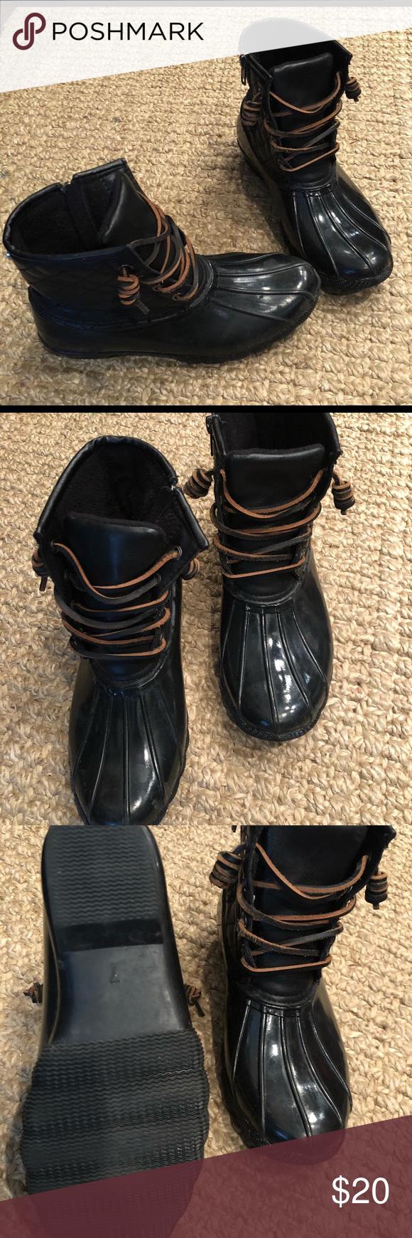 e2c70c3fdad Steve Madden Duck Boots Size 7 Lightly worn black Steve Madden duck ...