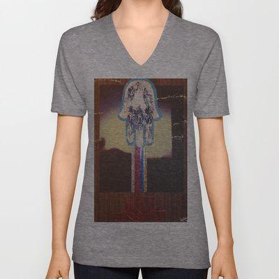 Blessings! V-neck T-shirt by Kabir-Jesús - $24.00