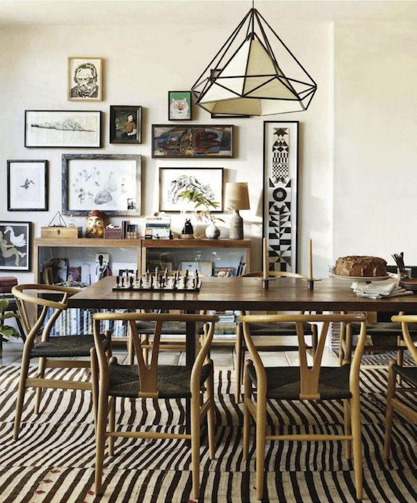 Design: Pamela Shamshiri For Commune Design. Hanging Lantern From  Lawson Fenning. I❤❤❤This Dining Room