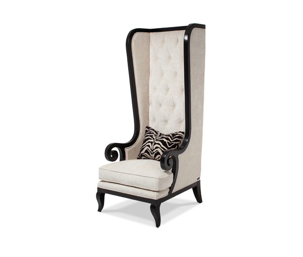 Bon Foxie High Back Chair Opt1 Black Onyx | Freestanding | Michael Amini  Furniture Designs | Amini