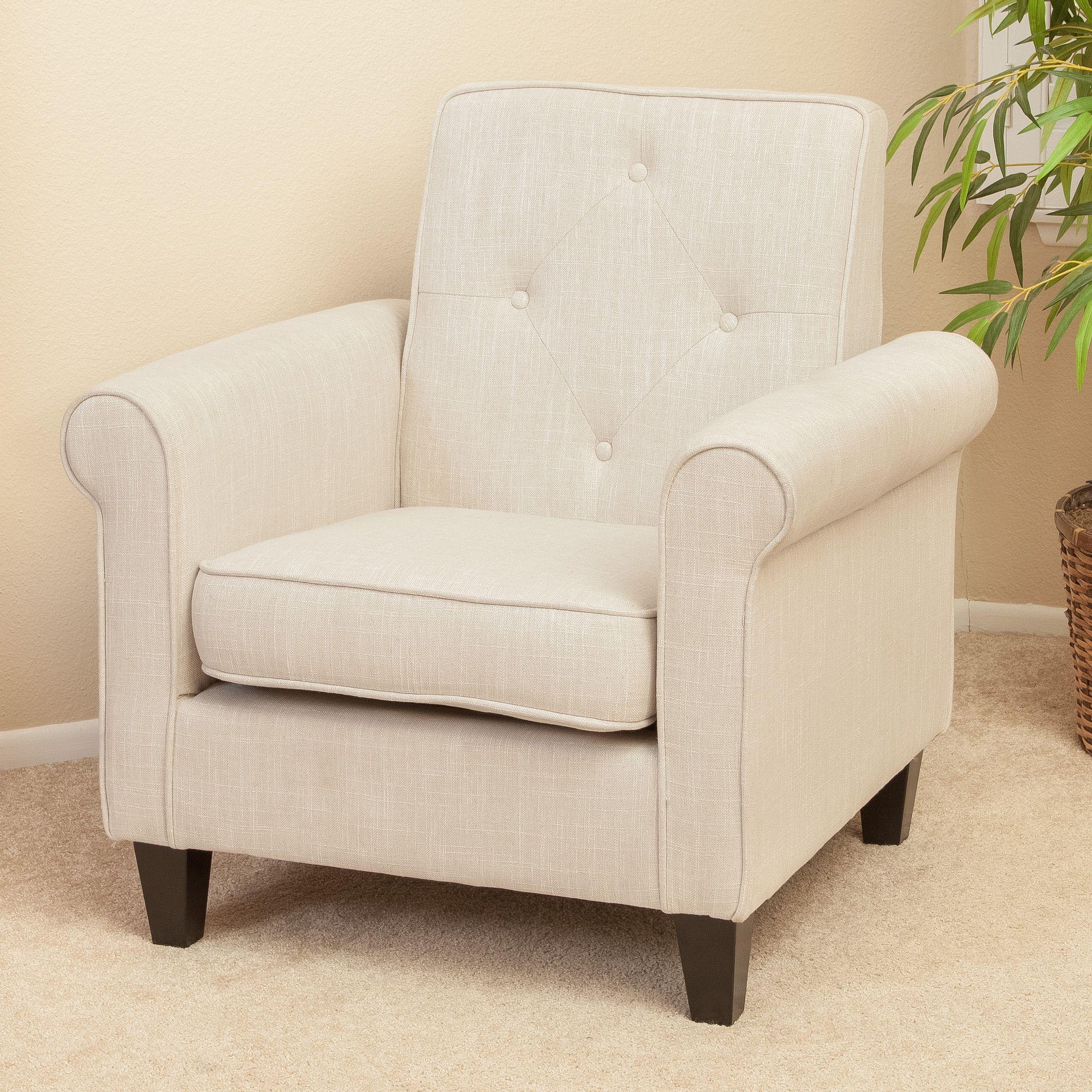 Barzini Light Beige Fabric Club Chair | REDO FURNITURE | Pinterest ...