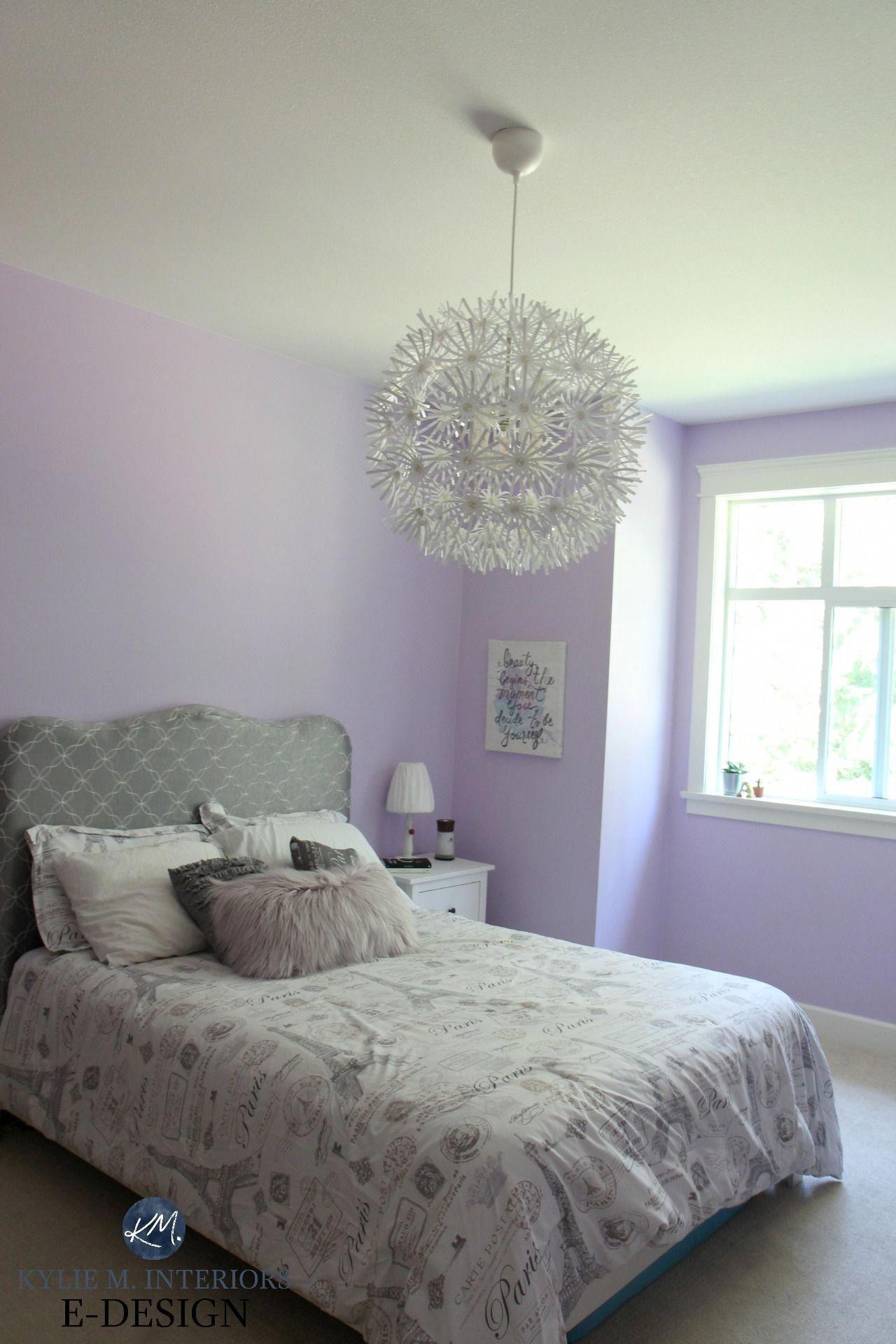 Best purple paint colour, Benjamin Moore Lily Lavender in