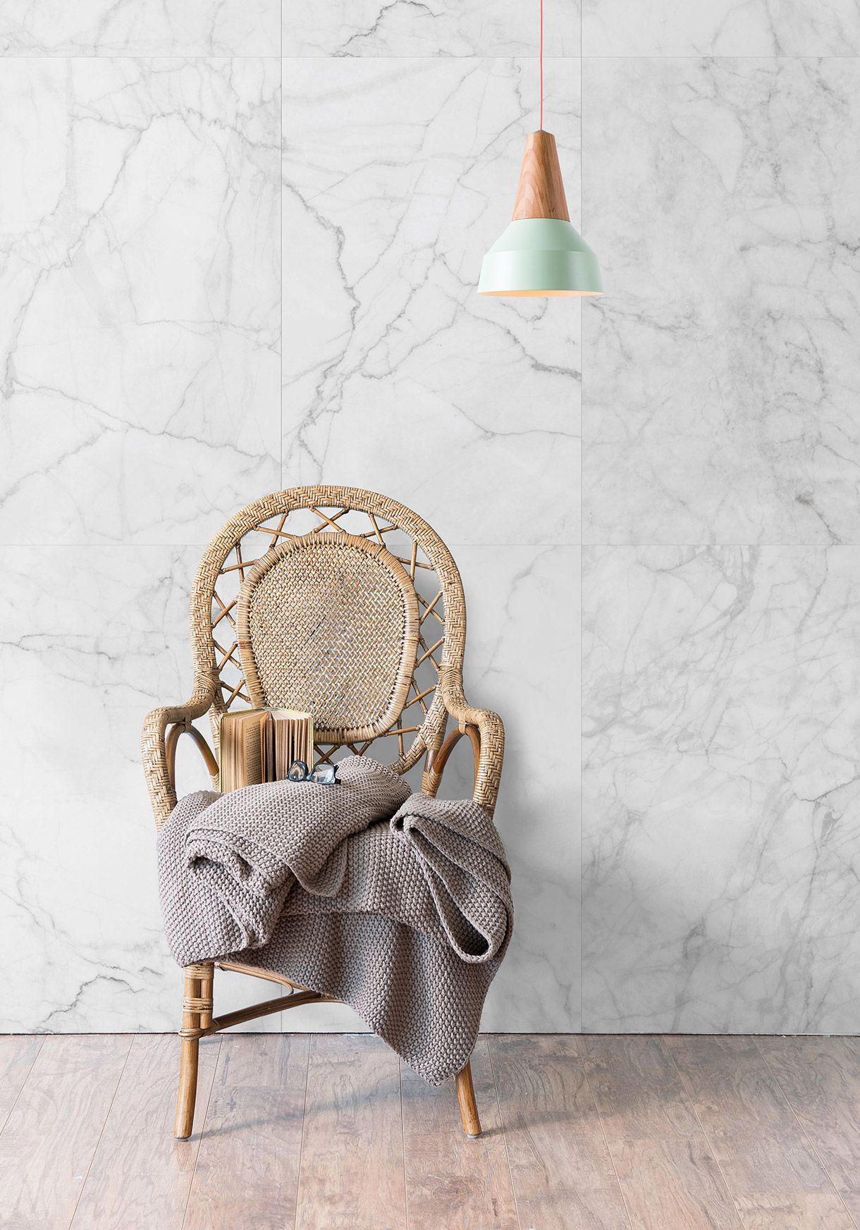 Luxury Wallpaper Direct from Milton & King UK. Add a touch of luxury to your living room with the Kemra - Faux Marble wallpaper