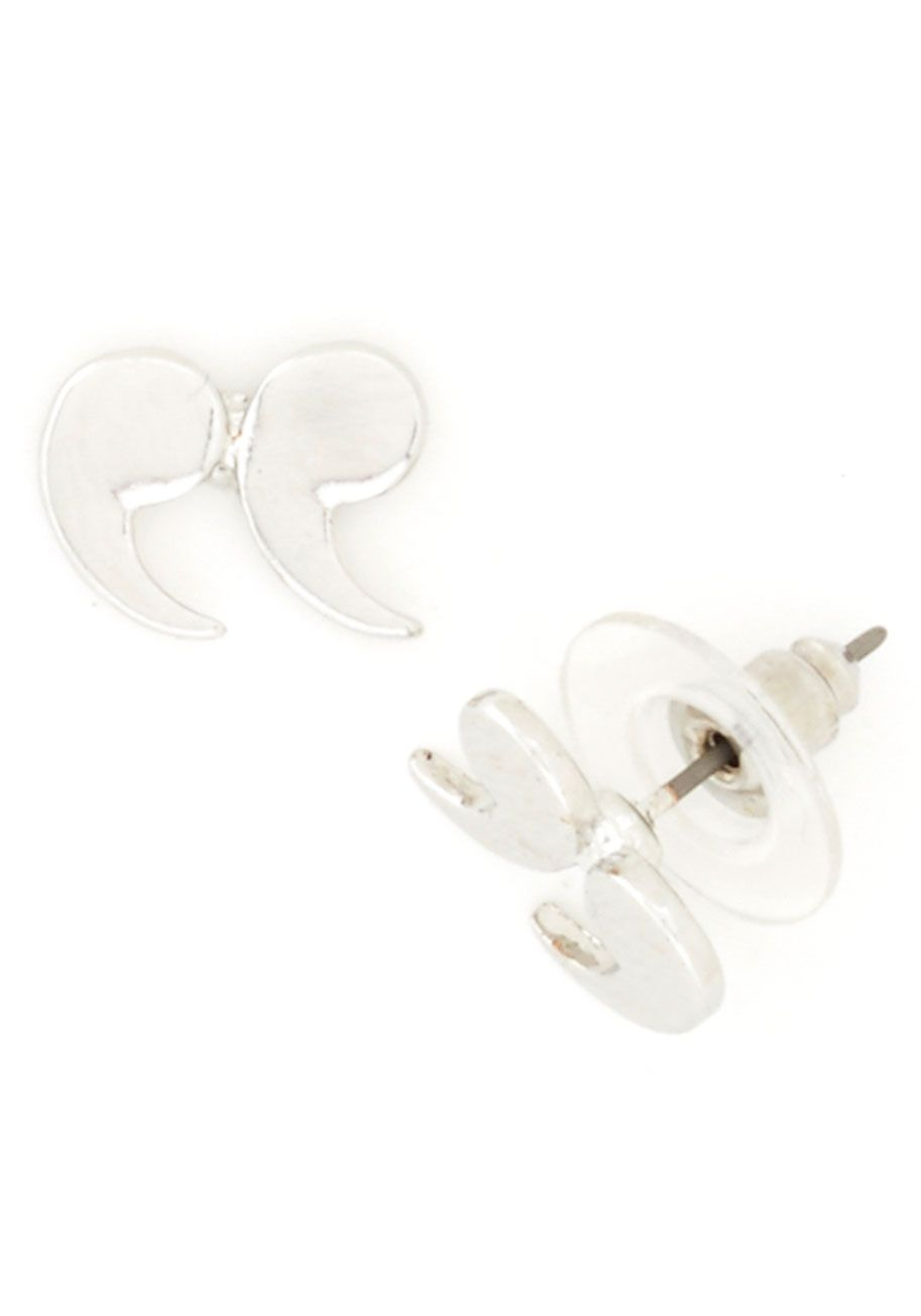 Quote Couture Earrings in Silver, #ModCloth