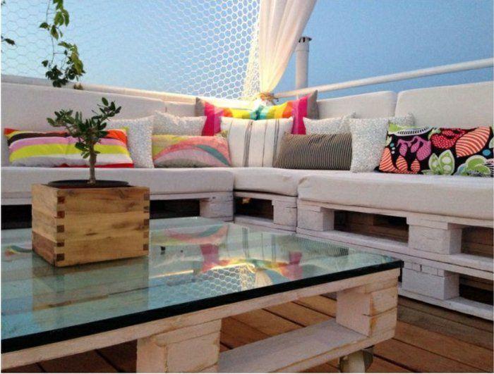 Les meilleures id es pour la terrasse en palette meuble relooking pinterest salon de for Meubles pour jardins et terrasses