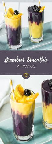 Hawaiianischer Brombeer-Mango-Smoothie