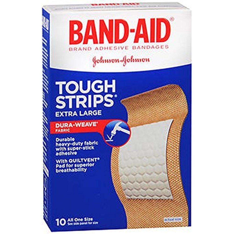 BandAid Brand ToughStrips Adhesive Bandages, Extra Large