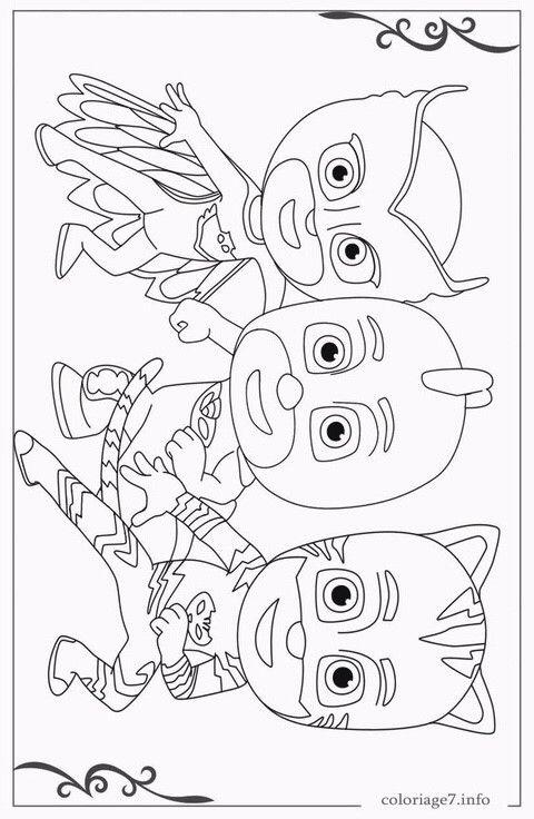 Pj masks coloring pages에 있는 핀