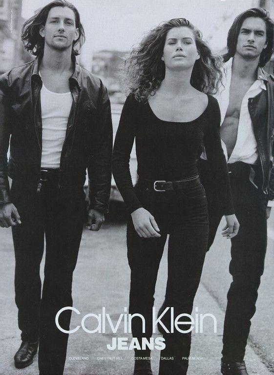Carre Otis, Marcus Schenkenberg and Eric Osland for Calvin ...  Marcus Schenkenberg Calvin Klein Ad