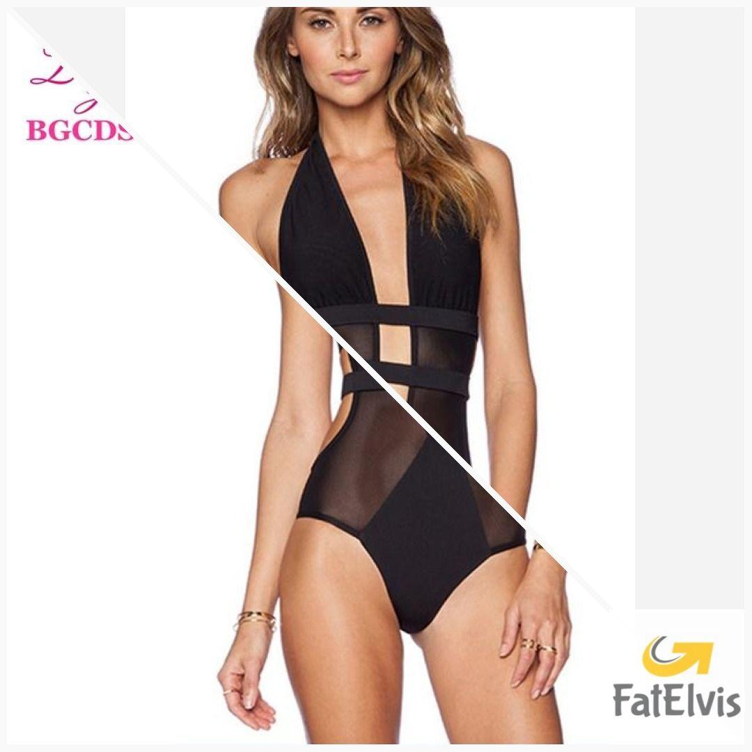 6f29c321192e1 Swimwear Women One Piece Swimsuit Backless Monokini Sexy Swimming Suit for  Women Swim Bathing Suit Mesh Summer Halter Beach Wear #men #gift #yogapants  ...