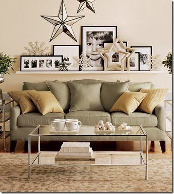 ideas for that wall behind the sofa kelly bernier. Black Bedroom Furniture Sets. Home Design Ideas