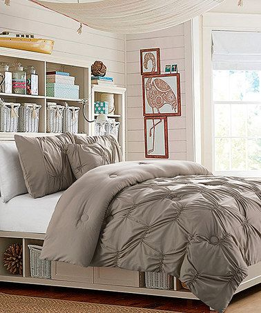Another great find on #zulily! Taupe Monica Comforter Set #zulilyfinds