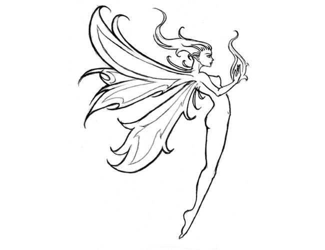 Tribal Fairy Tattoo Design | Body Art | Pinterest | Small ...
