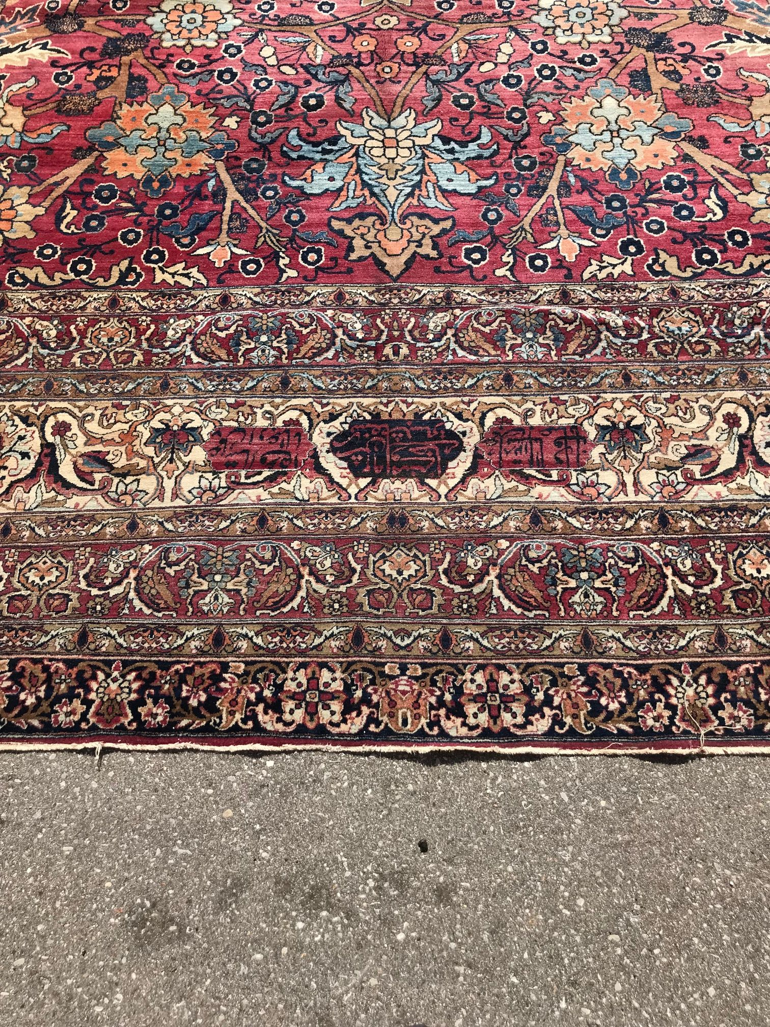Antique Persian Kermanshah Rug This Luxurious Over Sized Rug