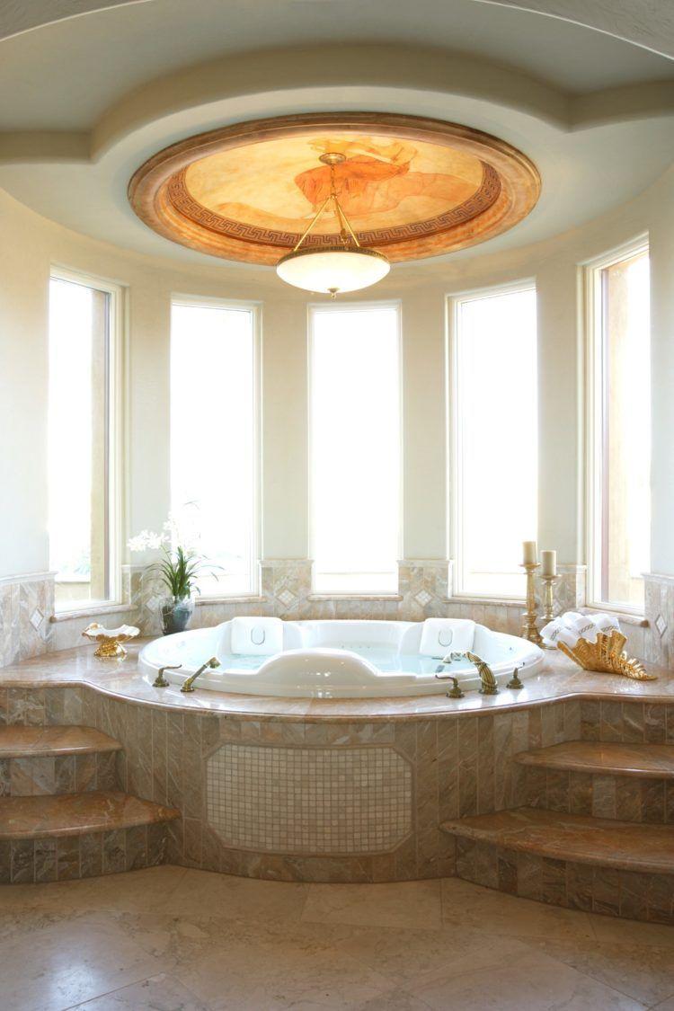 50 Stunning Garden Tub Wall Decorating Images In 2019 In 2020 Dream Bathroom Master Baths Luxury Bathroom Luxury Spa Bathroom