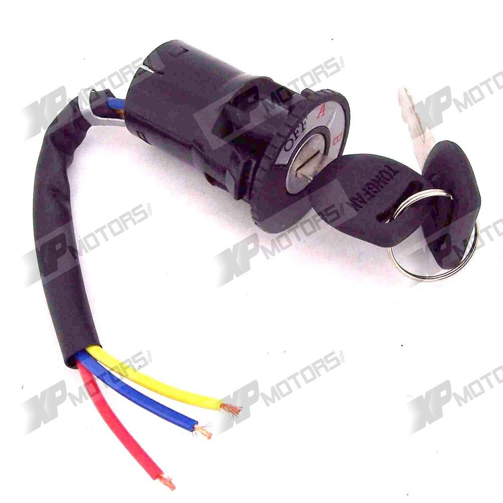 Ignition Switch for Scooters, ATVs and Go Karts 3-Wire