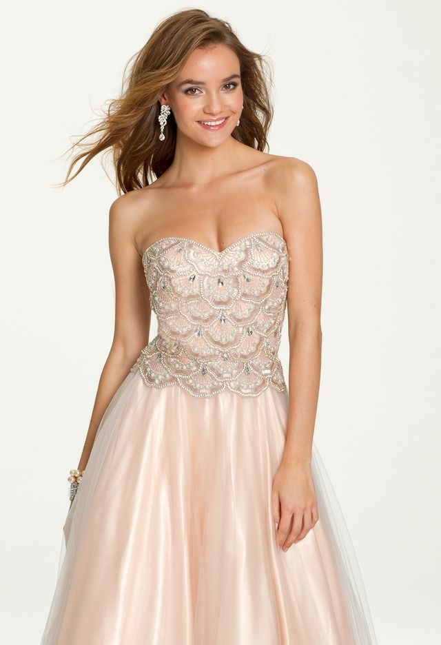 Strapless Beaded Tulle Dress from Camille La Vie and Group USA ...