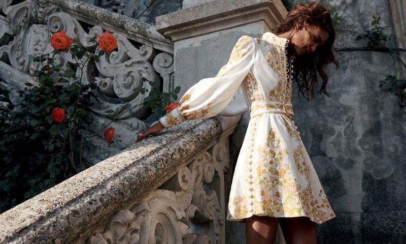Liya Kebede Poses In Zimmermann S Dreamy Resort 2020 Campaign Fashion Liya Kebede Fashion Pr
