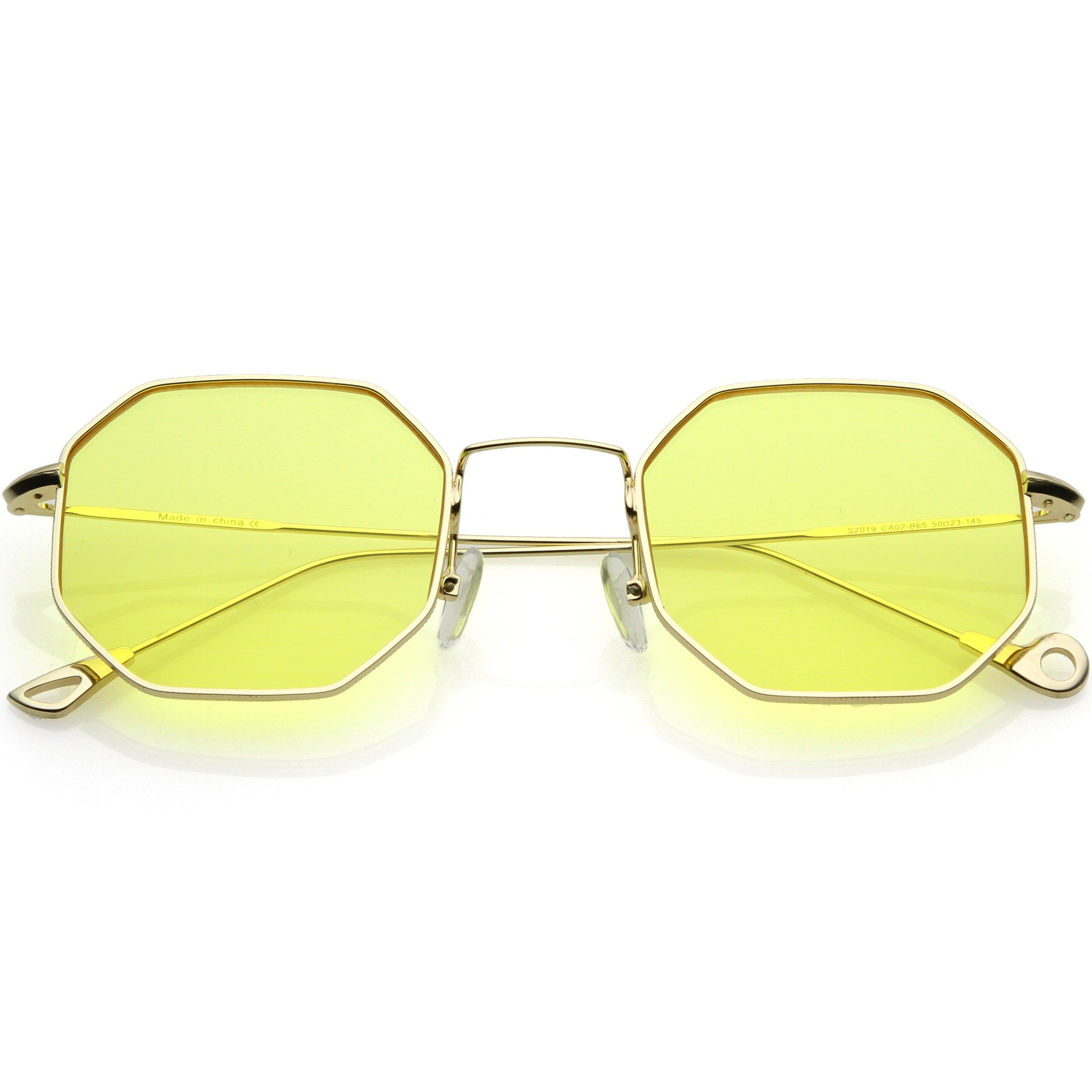 96059ce7aa Premium Retro Small Octagon Color Tone Lens Sunglasses C493 in 2019 ...