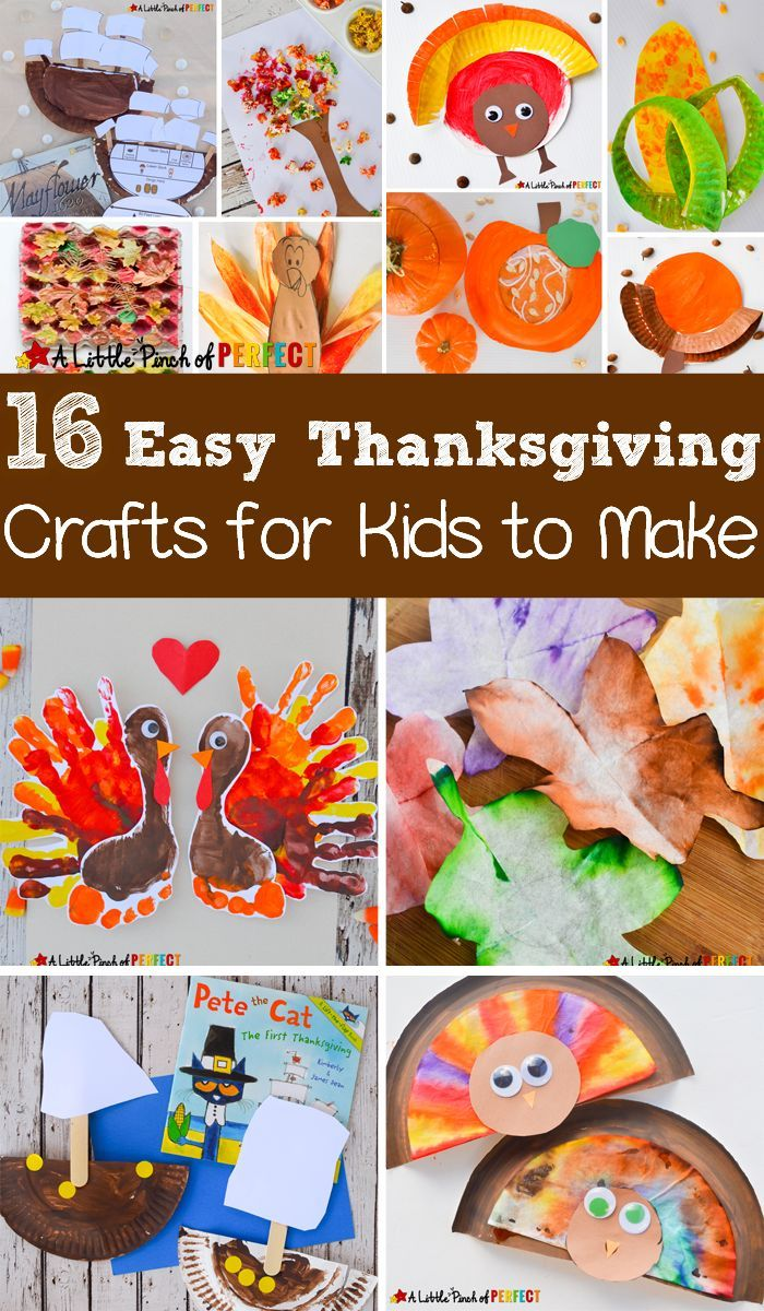 Easy Thanksgiving Craft Ideas Kids Part - 49: 16 Easy Thanksgiving Crafts For Kids To Make This Fall: Easy Craft Ideas  Including Turkeys