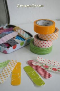 GrimmsKrams: DIY Pflaster mit Masking Tapes