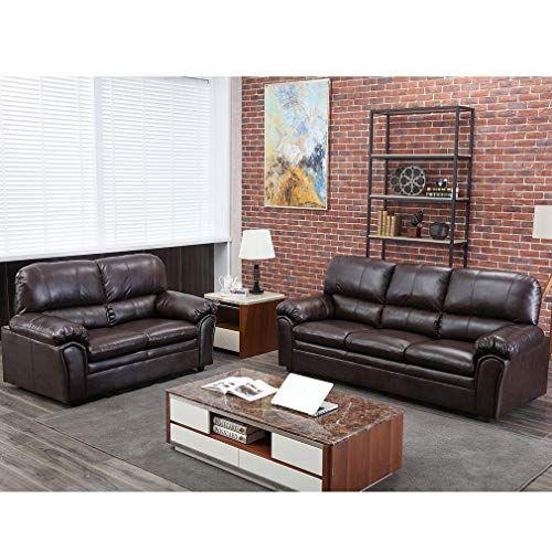 Sofa Sectional Sofa Sofa Set PU Leather Loveseat Sofa Contemporary Sofa Couch for Living Room Furniture 3 Seat Modern...