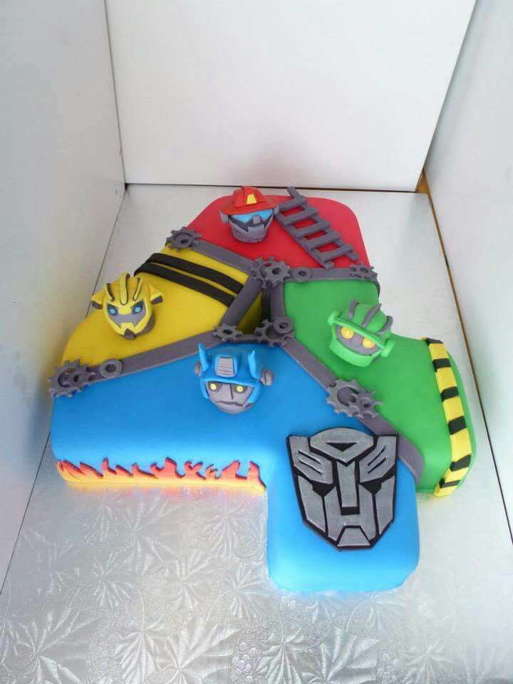 Rescue Bots Cake Number In 2019 Rescue Bots Cake