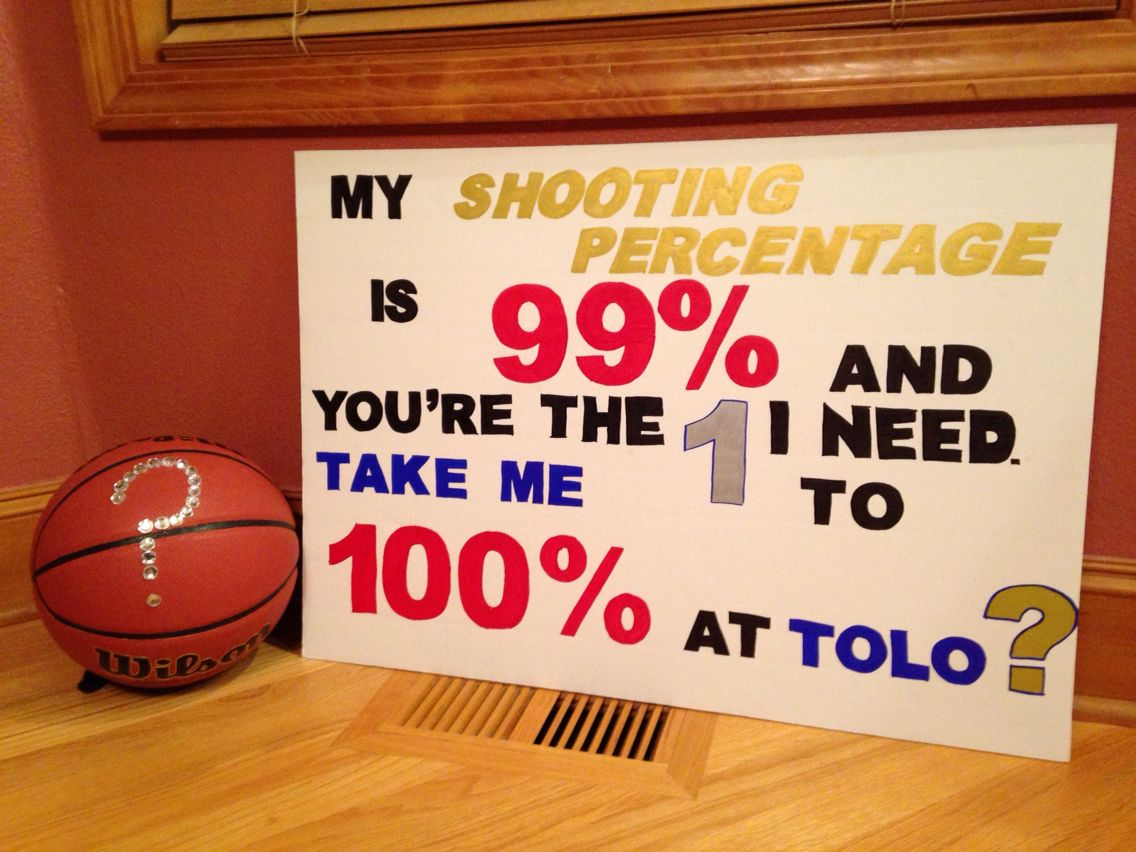 Cute ideas to ask a boy to sadie hawkins - How To Ask A Basketball Player To Tolo Tolo Ideas