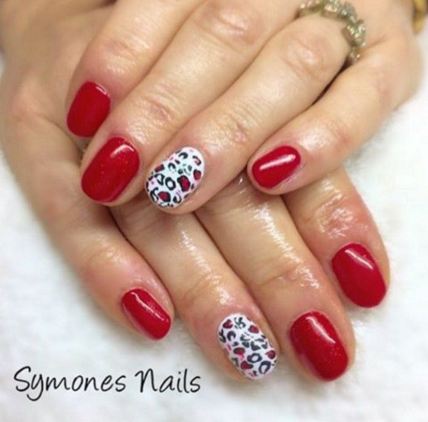 18 Red And White Nail Art Designs To Try On Valentine\'s Day   White ...
