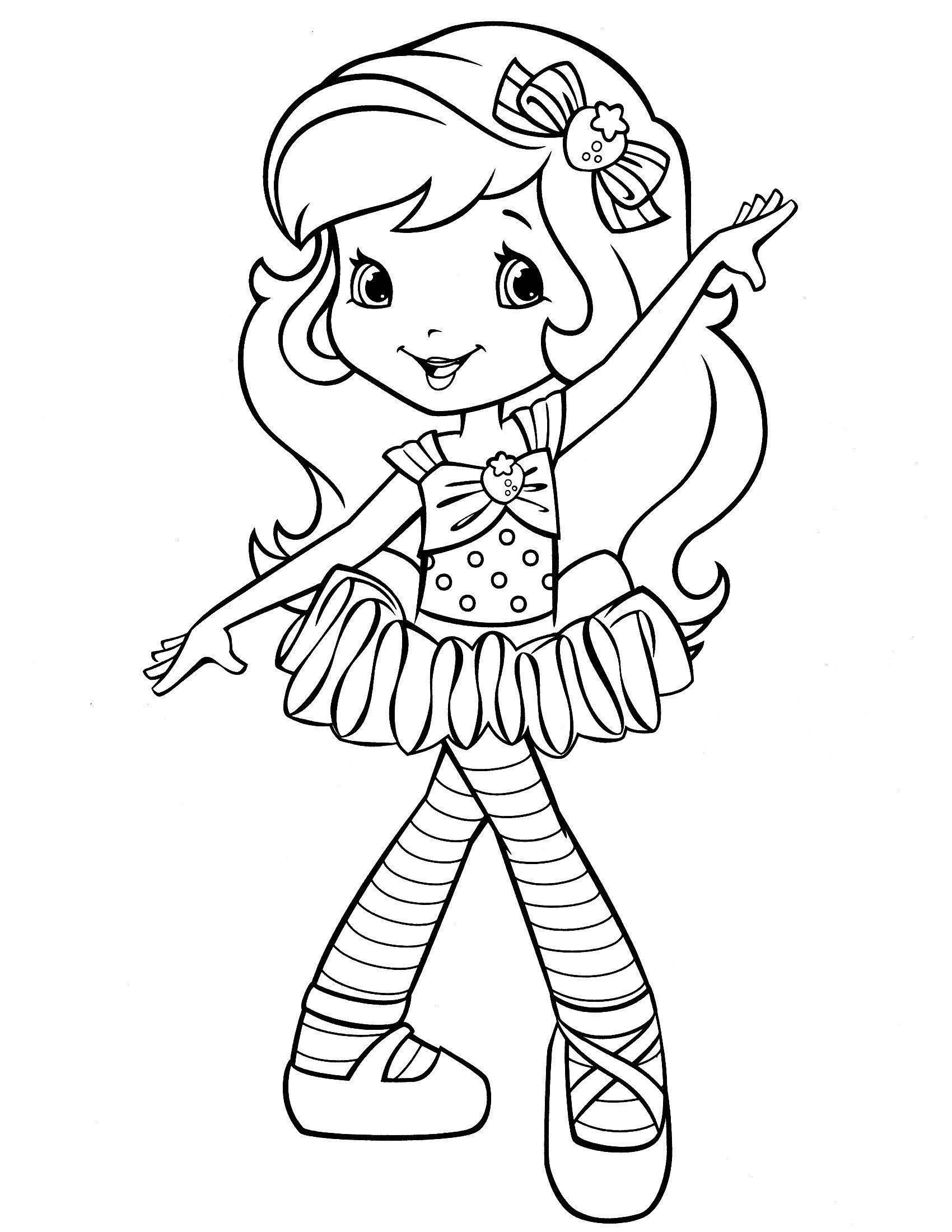 26 Awesome Strawberry Shortcake Coloring Page In