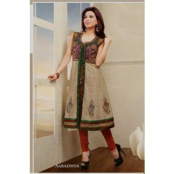 Embroidery Work Double Layered Kurti  New Arrivals