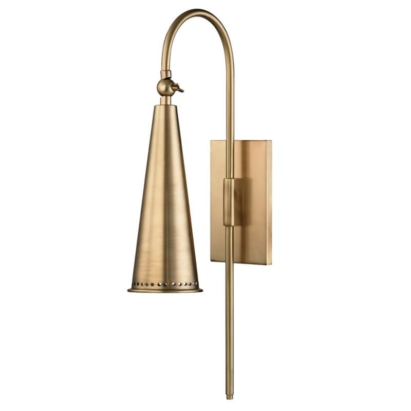 Hudson Valley Lighting 1300 Agb Alva 1 Light Wall Sconce In Aged Brass Foundry Lighting In 2020 Wall Sconce Lighting Sconces Wall Sconces
