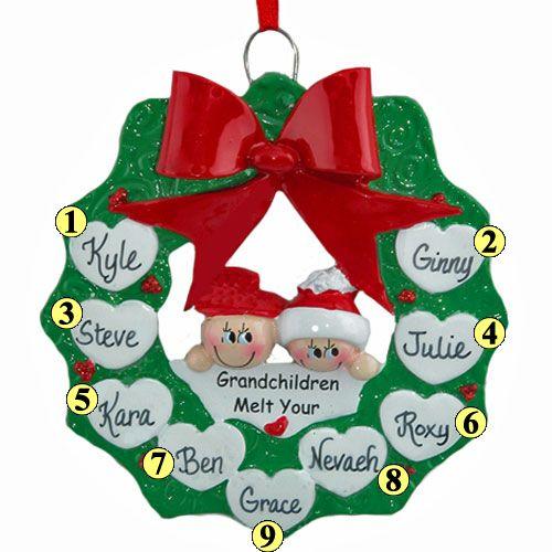 Grandchildren Wreath Family of 9. MIL gift
