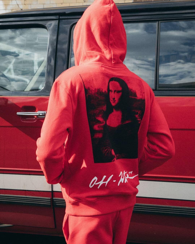 Off White On Instagram Re19 Men S Off White Red Mona Lisa Sweatshirt Now Available Online Sweatshirts Fashion Heavy Hoodies [ 1351 x 1080 Pixel ]